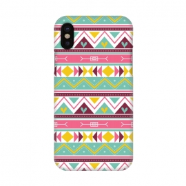 iPhone X  Geometric Multicolor Motifs 3 by Bledi