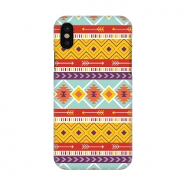 iPhone X  Geometric Multicolor Motifs 6 by Bledi