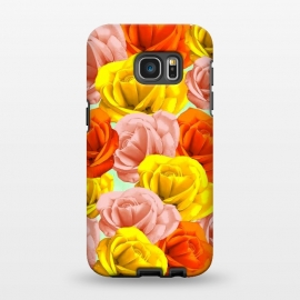 Galaxy S7 EDGE  Roses Pastel Colors Floral Collage by BluedarkArt