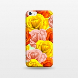 iPhone 5C  Roses Pastel Colors Floral Collage by BluedarkArt