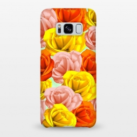 Galaxy S8+  Roses Pastel Colors Floral Collage by BluedarkArt