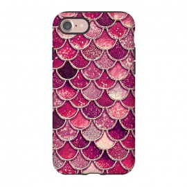 iPhone 8/7  Pink and Purple Pretty Sparkling Mermaid Scales  by Utart
