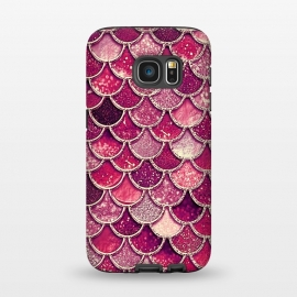Galaxy S7  Pink and Purple Pretty Sparkling Mermaid Scales  by Utart (fish, trendy, girly, ocean, sea, shell, metal, mermaid scales, mermaid, scales, foil, gatsby, chic, elegant, feminine, luxury, fashion, glitter, glamour, utart,rose gold, texture, sparkle, shiny, shine, glow, metallic,love,  glowing, bokeh, effect, blur, brilliant,pink,purple,drawing,painting,photog)