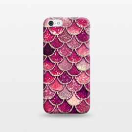 iPhone 5C  Pink and Purple Pretty Sparkling Mermaid Scales  by Utart