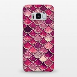 Galaxy S8+  Pink and Purple Pretty Sparkling Mermaid Scales  by Utart