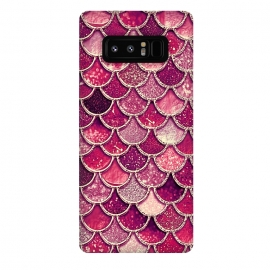 Galaxy Note 8  Pink and Purple Pretty Sparkling Mermaid Scales  by Utart
