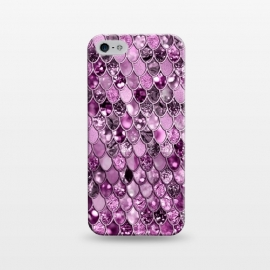 iPhone 5/5E/5s  Purple and Violet Trendy Shine Mermaid Scales by Utart