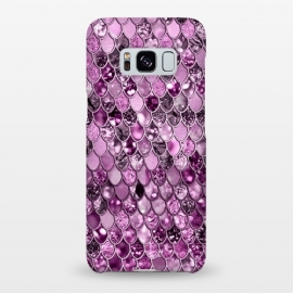 Galaxy S8+  Purple and Violet Trendy Shine Mermaid Scales by Utart