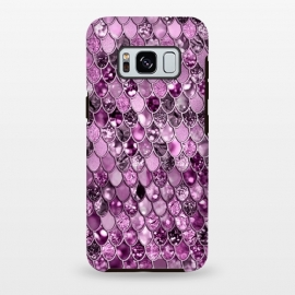 Galaxy S8 plus  Purple and Violet Trendy Shine Mermaid Scales by