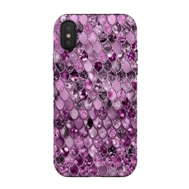 iPhone X  Purple and Violet Trendy Shine Mermaid Scales by Utart