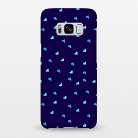 Galaxy S8+  blue hearts pattern design by MALLIKA