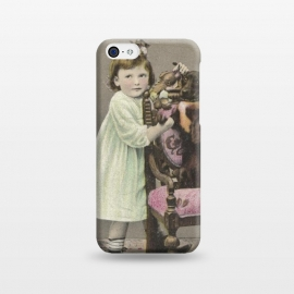 iPhone 5C  Vintage Girl With Dog by Andrea Haase
