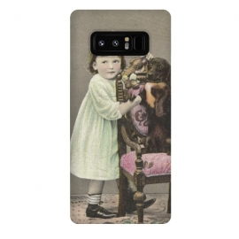 Galaxy Note 8  Vintage Girl With Dog by Andrea Haase
