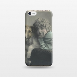 iPhone 5C  Vintage Boy With Dog by Andrea Haase