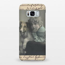Galaxy S8+  Vintage Boy With Dog by Andrea Haase