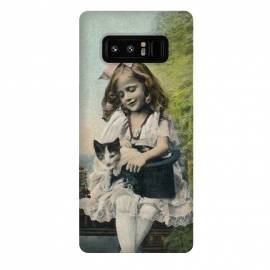 Galaxy Note 8  Retro Girl With Cat by