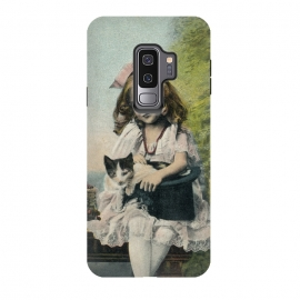 Galaxy S9+  Retro Girl With Cat by Andrea Haase