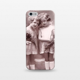 iPhone 5/5E/5s  Cute Retro Girls With Flowers by Andrea Haase