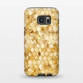 Galaxy S7  Gold Mermaid Scales Pattern by Utart ( abstract, animal, blink, fish, fish scale, fish scales, geometric, glamour, gleam, glitter, glittering, glow, glowing ,gold, golden ,light ,luxury, magic, marine, mermaid, mermaid scales, modern, nautical, ocean, oceanic, pastel, pattern, reptile, scale, scales, sea, seamless,shimmer, shine, shiny)