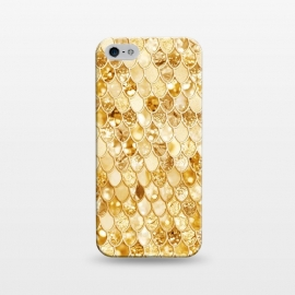 iPhone 5/5E/5s  Gold Mermaid Scales Pattern by Utart