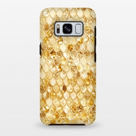 Galaxy S8+  Gold Mermaid Scales Pattern by Utart