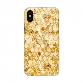 iPhone X  Gold Mermaid Scales Pattern by Utart