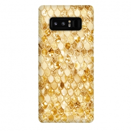 Galaxy Note 8  Gold Mermaid Scales Pattern by