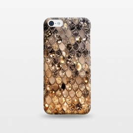 iPhone 5C  Old Gold and Bronze Mermaid Scales Pattern by Utart