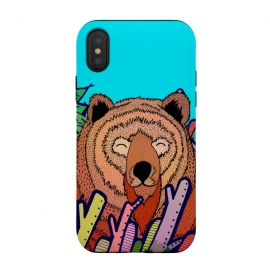 iPhone Xs / X  The bear in the leaves by Steve Wade (Swade)