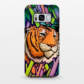 Galaxy S8 plus  Tiger in the undergrowth  by