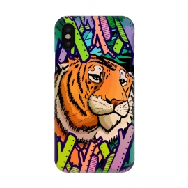 iPhone X  Tiger in the undergrowth  by