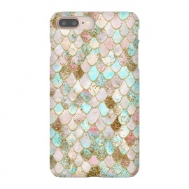 Watercolor Wonky Gold Glitter Pastel Summer Mermaid Scales  by Utart