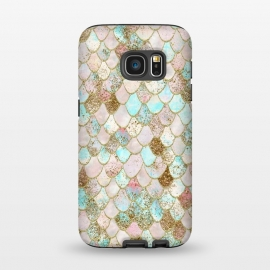 Galaxy S7  Watercolor Wonky Gold Glitter Pastel Summer Mermaid Scales  by Utart ( abstract, animal, blink, fish, fish scale, fish scales, geometric, glamour, gleam, glitter, glittering, glow, glowing ,gold, golden ,light ,luxury, magic, marine, mermaid, mermaid scales, modern, nautical, ocean, oceanic, pastel, pattern, reptile, scale, scales, sea, seamless,shimmer, shine, shiny)