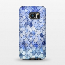 Galaxy S7  Blue Summer Wonky Watercolor and Glitter Mermaid Scales by Utart ( abstract, animal, blink, fish, fish scale, fish scales, geometric, glamour, gleam, glitter, glittering, glow, glowing ,gold, golden ,light ,luxury, magic, marine, mermaid, mermaid scales, modern, nautical, ocean, oceanic, pastel, pattern, reptile, scale, scales, sea, seamless,shimmer, shine, shiny)