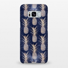 Galaxy S8+  Modern Golden pineapples nebula pattern by InovArts