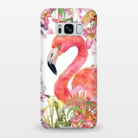 Galaxy S8+  Flamingo in Flower Jungle by Utart