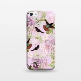 iPhone 5C  Flower and Bird Jungle  by Utart