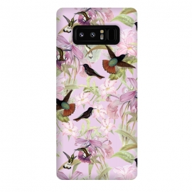 Galaxy Note 8  Flower and Bird Jungle  by Utart