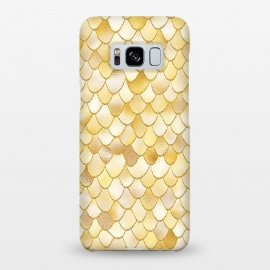 Galaxy S8+  Gold Wonky Metal Mermaid Scales by Utart