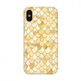 iPhone X  Gold Wonky Metal Mermaid Scales by Utart