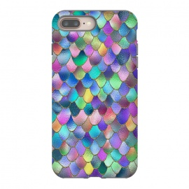 Colorful Carnival Wonky Metal Mermaid Scales by Utart