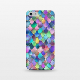 iPhone 5/5E/5s  Colorful Carnival Wonky Metal Mermaid Scales by