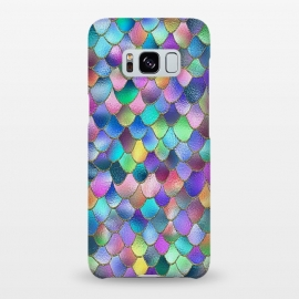 Galaxy S8+  Colorful Carnival Wonky Metal Mermaid Scales by Utart