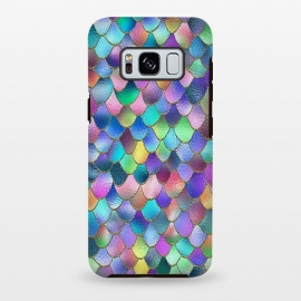 Galaxy S8 plus  Colorful Carnival Wonky Metal Mermaid Scales by