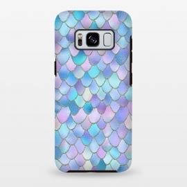 Galaxy S8 plus  Lavender Wonky Metal Mermaid Scales by