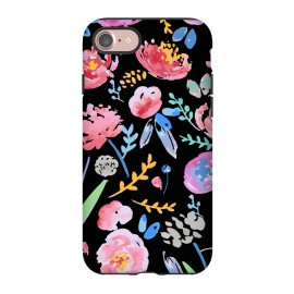 iPhone 8/7  Watercolor Florals by MUKTA LATA BARUA (blooms, flowers, florals,love, pretty, beautiful,spring, summer)