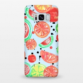 Galaxy S8+  Fruit Crush Print by MUKTA LATA BARUA (food,fresh,watermelon,lemon,fruit,summer)