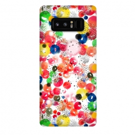 Galaxy Note 8  Polka Dots by  (polka dots, watercolor,colors, colorful)