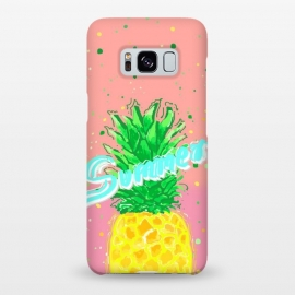 Galaxy S8+  Pineapple Love by MUKTA LATA BARUA (pineapple,yellow,food,fruit,summer,fresh)