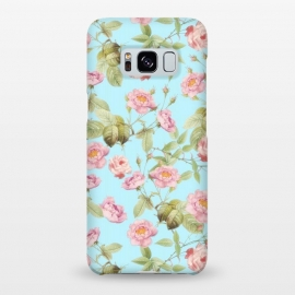 Pastel Teal and Pink Roses Pattern by Utart